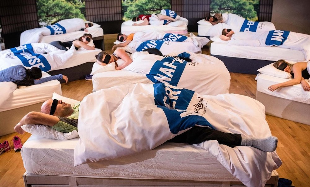 Você já imaginou participar de uma aula de soneca?